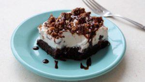 torta fredda con crema fiocco di neve